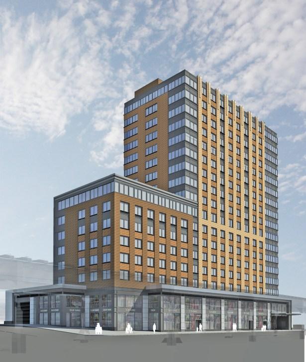A BRONX 17-STORY: A rendering M. Melnick & Co.'s 134-unit 810 River Avenue project.