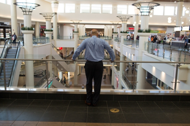 Bronx Borough President Ruben Diaz Jr. in the Mall At Bay Plaza in the Baychester section of the Bronx (Photo: Aaron Adler for Observer).