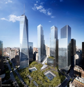 The World Trade Center buildings and site.