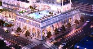 605 West 42nd Street retail rendering.