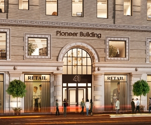 Rendering of the Pioneer Building at 41 Flatbush Avenue in Downtown Brooklyn (Photo: Courtesy Real Estate Arts).