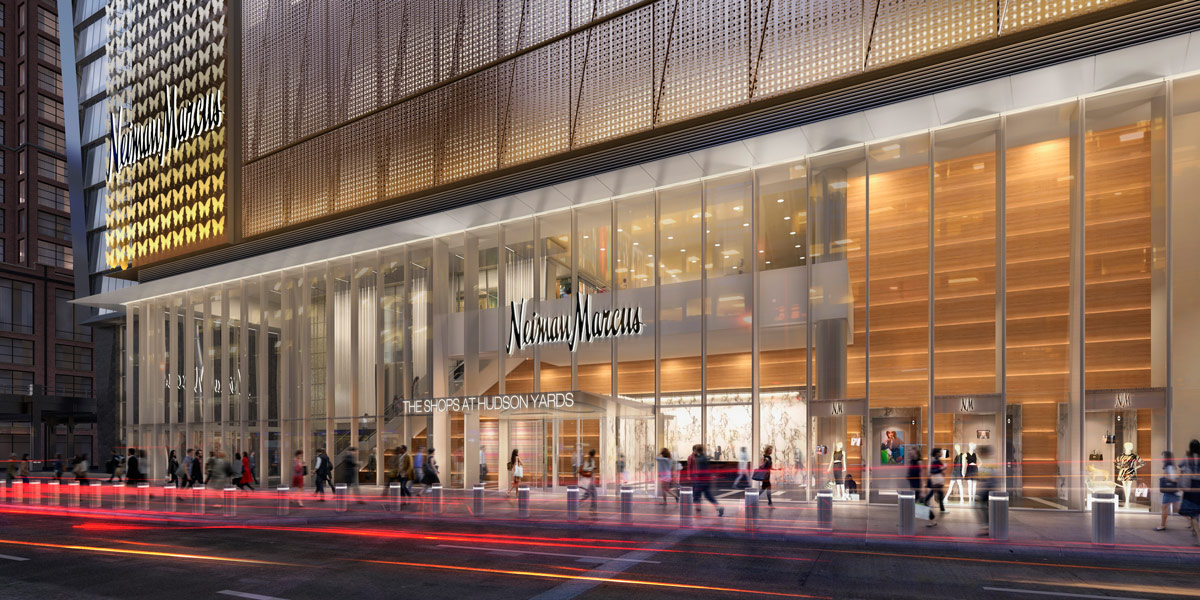 Rendering of the flagship Neiman Marcus store.