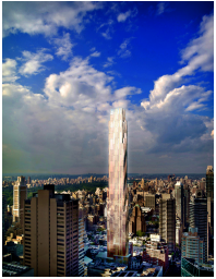 Rendering of Kuafu's planned tower for the site.