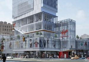 A rendering of the Virgin hotel in Midtown.