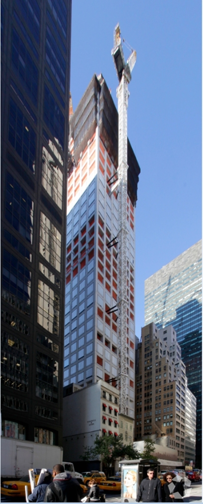 The concrete mix for 432 Park Avenue was employed with new tactics to get the white finish.