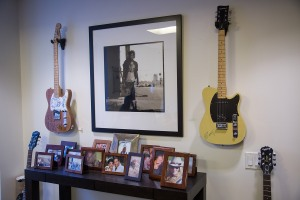 A portion of Mr. Liebersohn's guitars in his office (Photo: Michael Nagle/ for Observer).