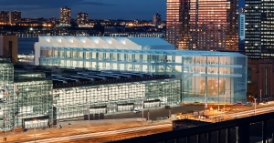 The governor's office is billing the 60,000-square-foot ballroom in the expanded Javits Center as the largest in the Northeast.