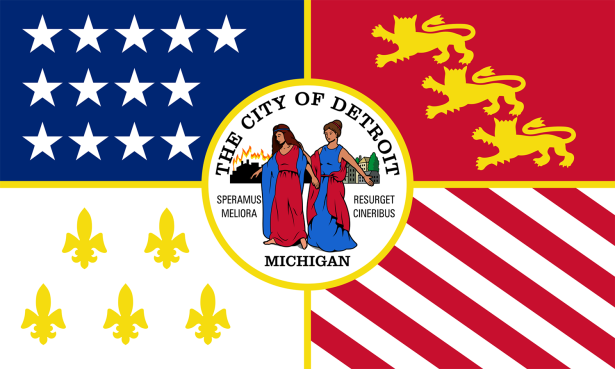 The Flag of Detroit, Mich.