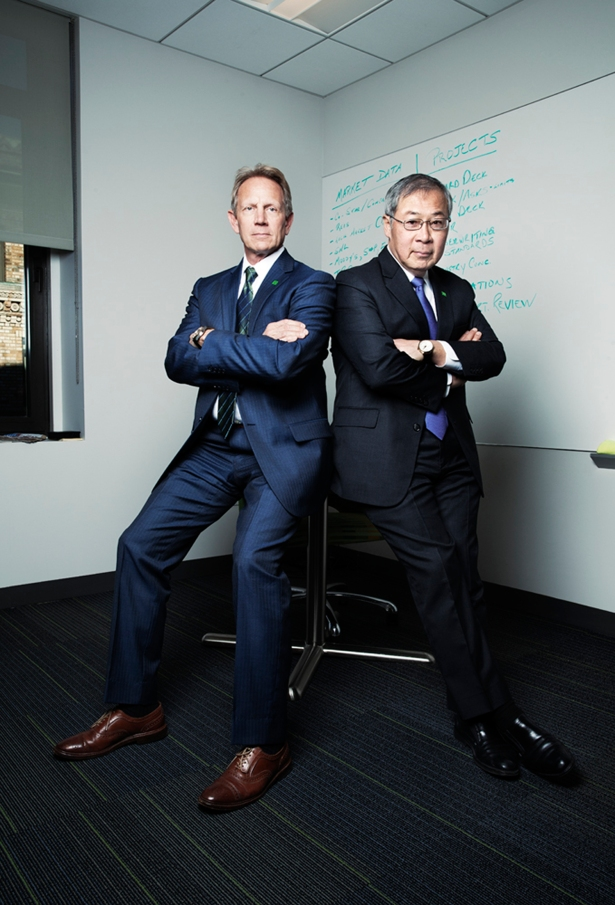 DOUBLE VISION: Mr. Gerken and Mr. Chen share a philosophy of caution, but that hasn't prevented them from quadrupling the bank's NYC book (PHOTO: Celeste Sloman for Commercial Observer).