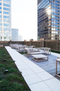 The outdoor rooftop deck (Photo: Kaitlyn Flannagan/ For Commercial Observer).