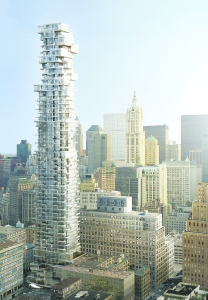 The design for 56 Leonard was released in 2008. PHOTO CREDIT: Herzog & de Meuron