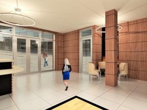 815 Broadway lobby rendering.