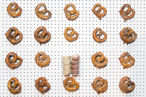 The pretzel wall. (Photo: Riviera Caterers).