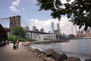 Dumbo has gone from a quiet area to one of the most expensive for commercial and residential tenants (Photo: Spencer Platt/Getty Images).
