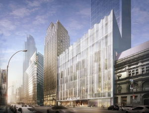 Nordstrom's store in its retail condo at Extell Development Company's Central Park Tower (Rendering: Courtesy Nordstrom).