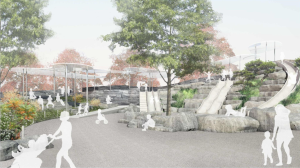 A rendering of the playground at The Battery (Rendering: The Battery Conservancy).