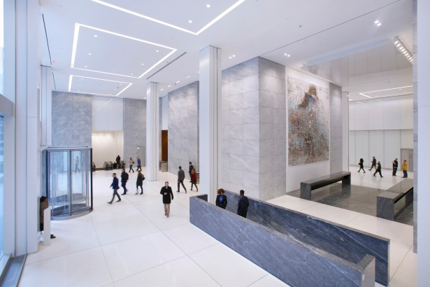 A rendering of the interior lobby of 1221 Avenue of the Americas.
