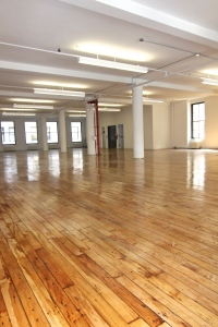 Inside the vacant spot of Barstool Sports' new home.