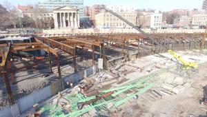 Empire Outlets under construction.