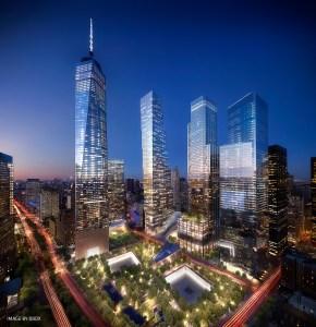 The World Trade Center complex.