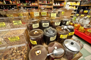 Choices of nuts and dried goods at Kalustyan's (Photo: jazz guy/flickr).