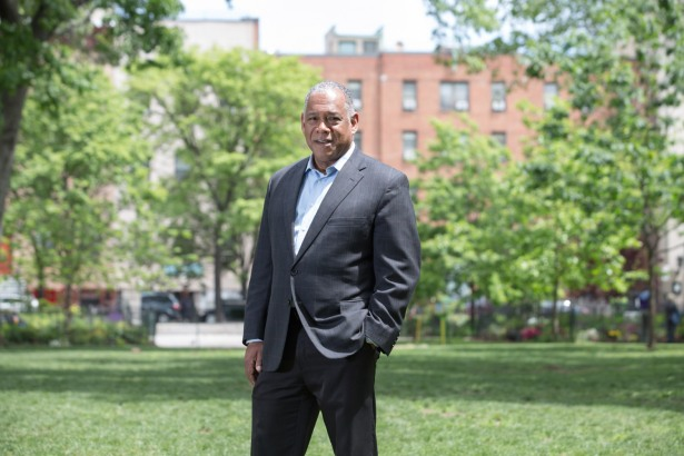 Mr. Silver is implementing Parks Without Borders, linking the streets with the city's green spaces (Photo: Aaron Adler/for Commercial Observer).
