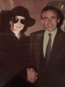 Michael Jackson with Thomas Flexner at the Waldorf-Astoria.
