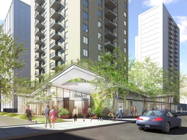 Rendering: Stellar Management's retail development at 93rd Street.