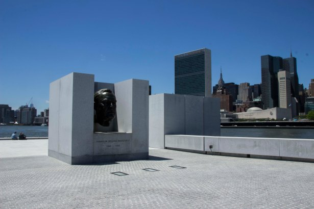 The Four Freedoms Park, inspired by Franklin D. Roosevelt (also the island's namesake), has been a draw to the area since it was finished in 2012 (Photo: David Khorassani/for Commercial Observer).