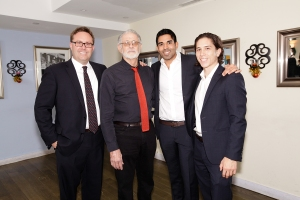 From left to right: John Harrington, Jerry Swartz, Ayush Kapahi and Michael Lee (Photo: Jill Lotenberg).