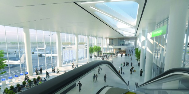 A rendering of the new Terminal B.