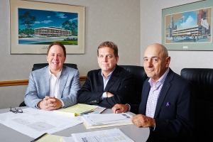 Bob Altman, Brian Warwick, and Gerald Krell of Altman Warwick (Photo: Yvonne Albinowski/for Commercial Observer).