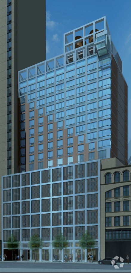 A rendering of the Doubletree by Hilton at 346-350 West 40th Street (Courtesy: CoStar Group).