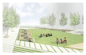 A recent rendering of the African Burial Ground footprint commissioned by the Harlem African Burial Ground Task Force.