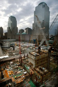 Early work on 1 World Trade Center. Photo: Mario Tama/Getty Images.
