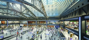 Rendering of the new Moynihan Train Hall.