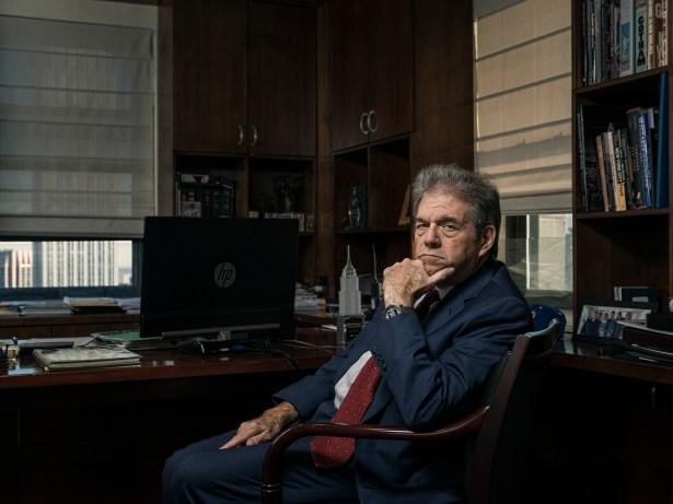 Steven Kaufman in his office at 450 Seventh Avenue. Photo: Sasha Maslov.
