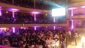 The crowd at the boxing event. Photo: Liam La Guerre.