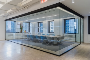 The pre-built office comes with conference room space. Photo: Equity Office.