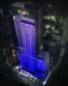 A rendering of Hard Rock Hotel New York. Photo: Hard Rock International.