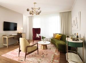 A rendering of a West Elm hotel room. Rendering: West Elm.