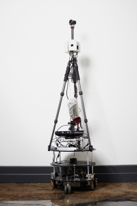 VR2 is a made of various lens, a tripod, a base with wheels and microphone and very technical coding. Photo: Yvonne Albinowski/For Commercial Observer.