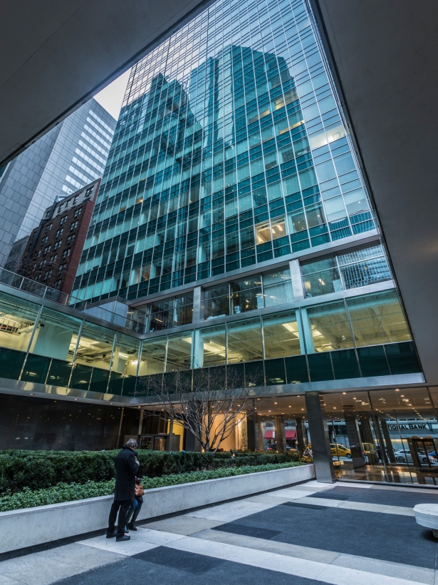The courtyard in front of Lever House at 390 Park Avenue. Photo: Sasha Maslov/Commercial Observer.