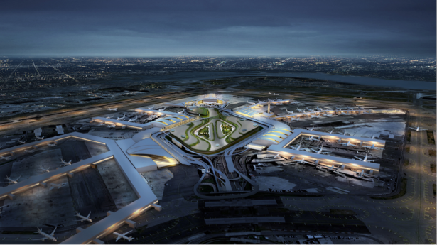 The revamped JFK Airport. Rendering courtesy: Gov. Andrew Cuomo's office