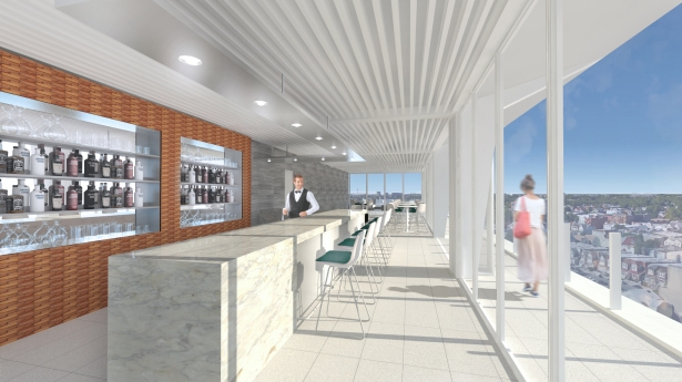 Able Management Group's Hilton Garden Inn in Jamaica will have a rooftop bar.