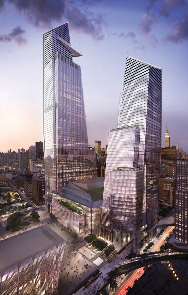 10 and 30 hudson yards with retail looking northeast c related oxford JB&B's Scott Frank Talks Engineering Trends, 1 Bryant Park and Innovations at WTC