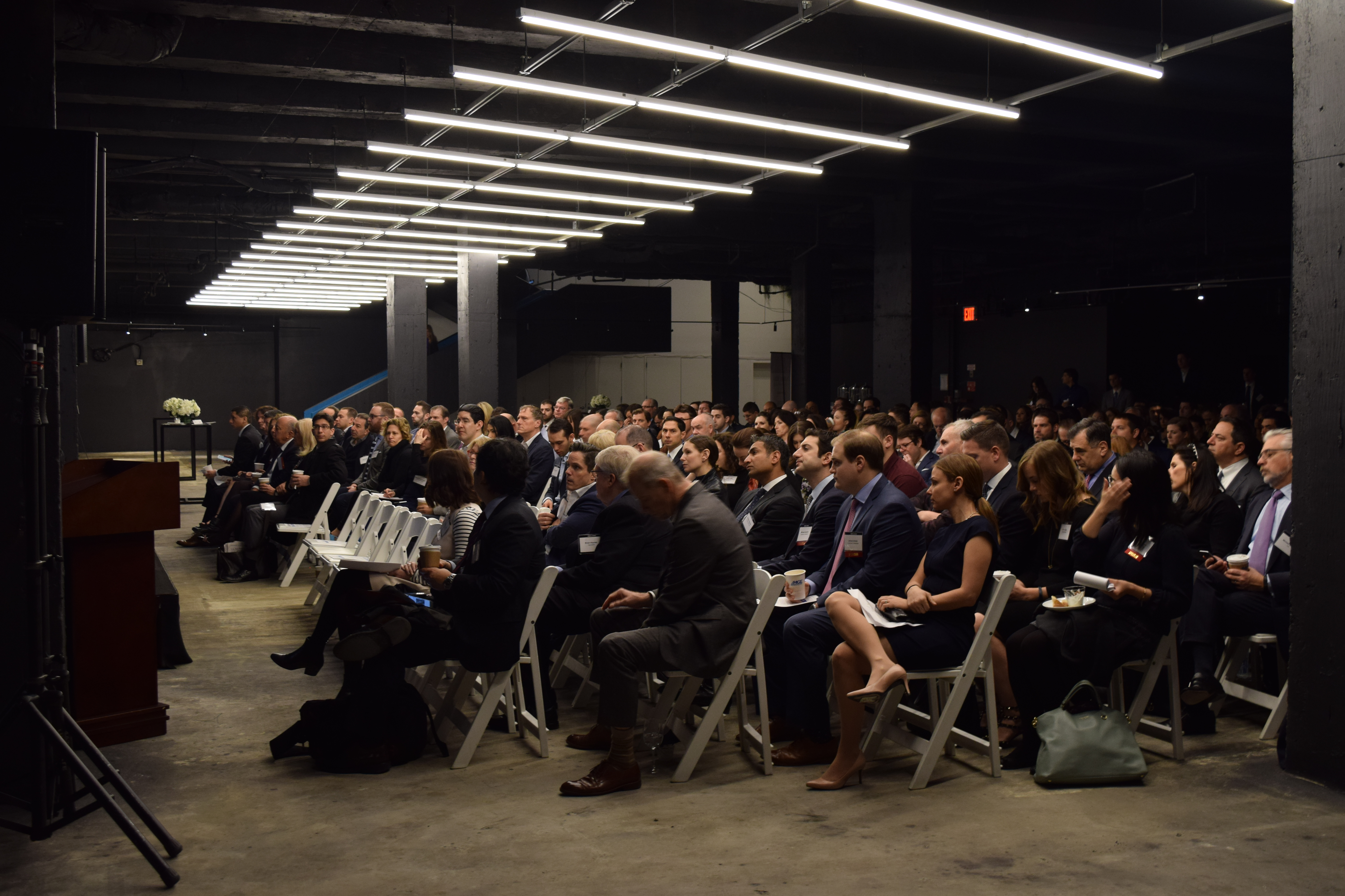 A packed house for yesterday's panel on the Future of Retail at 1221 Avenue of the Americas.