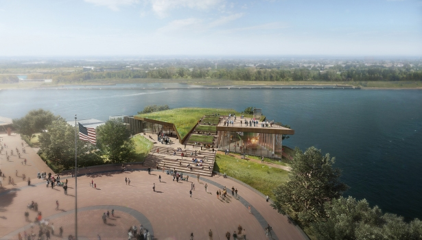fxfowle statue of liberty museum aerial view1 The Power Designers of New York City Are All About Green Spirit