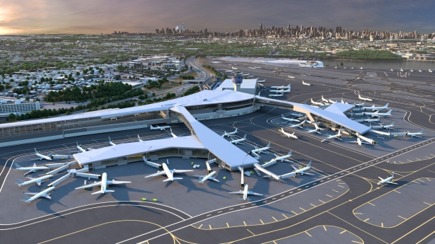 laguardia airport central terminal b hok The Power Designers of New York City Are All About Green Spirit