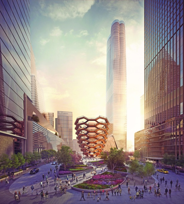 view of the public square and gardens looking south from 33rd st courtesy of forbes massie heatherwick studio West Side Story: The Tale of Hudson Yards